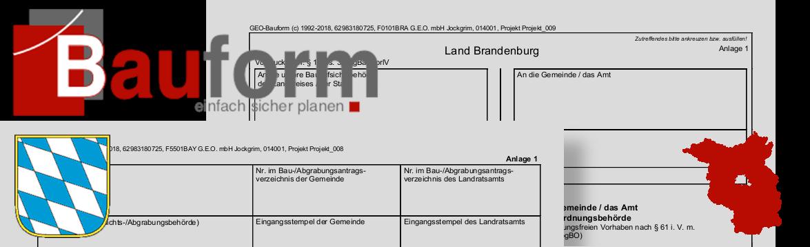 Neue Bauantragsformulare in Bayern und Brandenburg