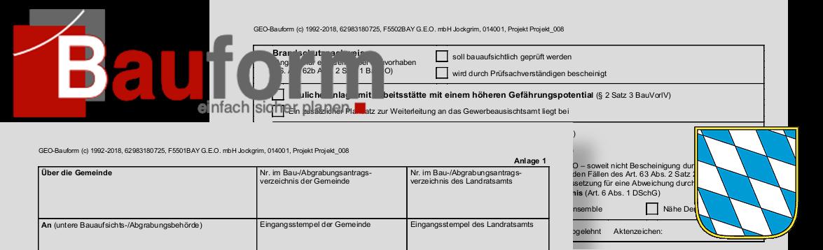 Bauantragsformulare für Bayern