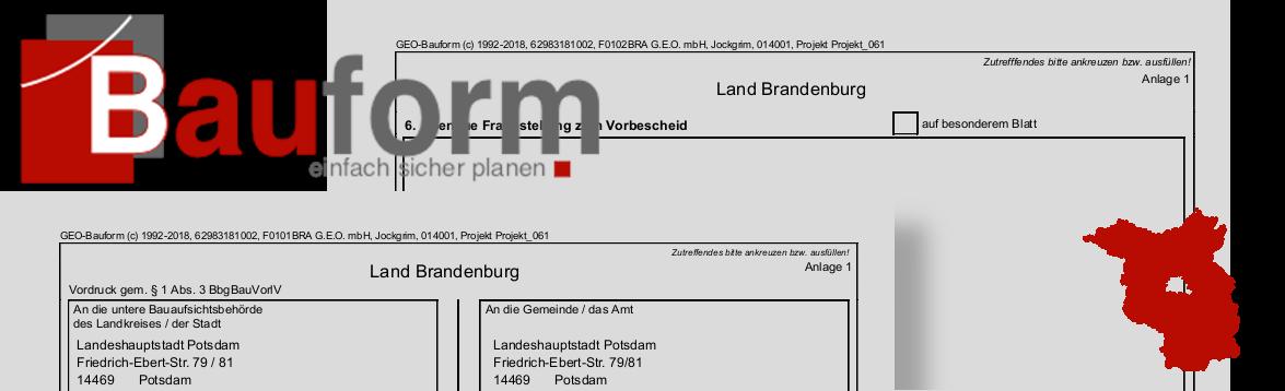 Bauantragsformulare für Brandenburg