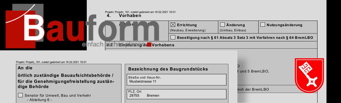 Bauformulare in Bremen
