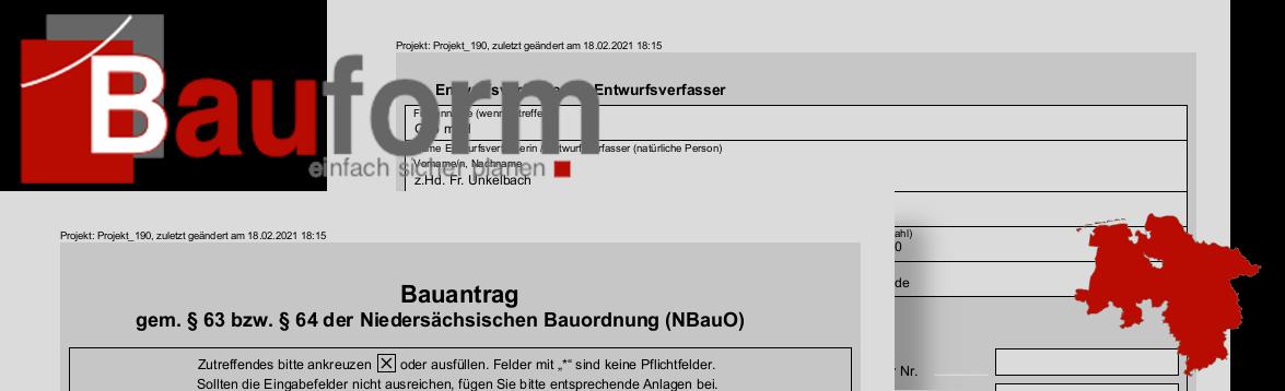Bauformulare für Niedersachsen