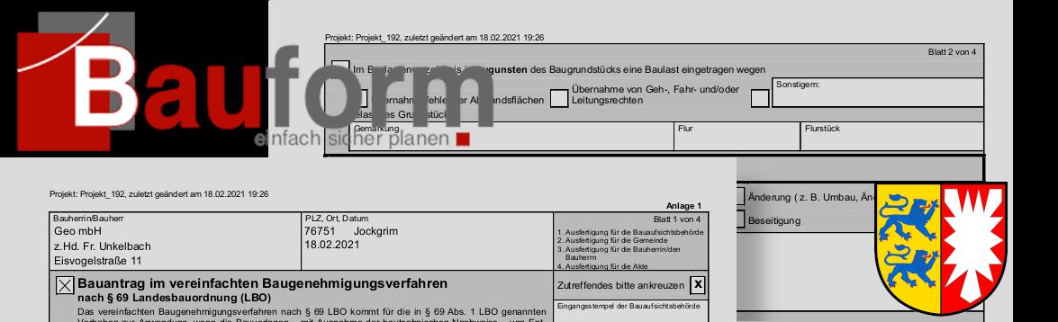 Bauformulare in Schleswig-Holstein